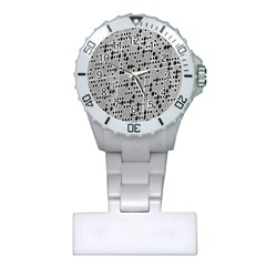 Metal Background With Round Holes Plastic Nurses Watch