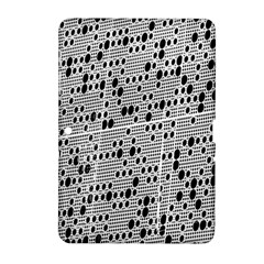 Metal Background With Round Holes Samsung Galaxy Tab 2 (10 1 ) P5100 Hardshell Case