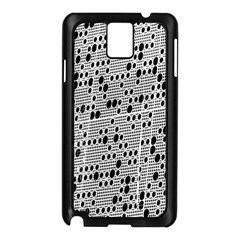 Metal Background With Round Holes Samsung Galaxy Note 3 N9005 Case (Black)