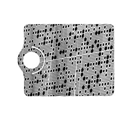 Metal Background With Round Holes Kindle Fire HD (2013) Flip 360 Case