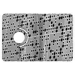 Metal Background With Round Holes Kindle Fire HDX Flip 360 Case