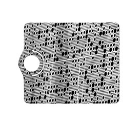 Metal Background With Round Holes Kindle Fire HDX 8.9  Flip 360 Case