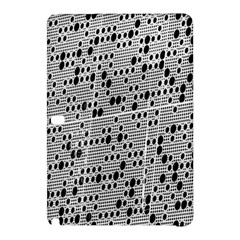 Metal Background With Round Holes Samsung Galaxy Tab Pro 10 1 Hardshell Case