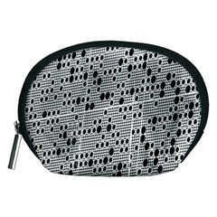 Metal Background With Round Holes Accessory Pouches (medium)