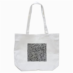 Metal Background With Round Holes Tote Bag (White)