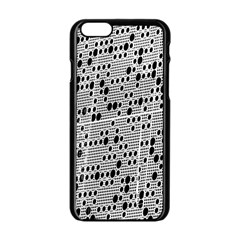 Metal Background With Round Holes Apple Iphone 6/6s Black Enamel Case
