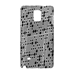 Metal Background With Round Holes Samsung Galaxy Note 4 Hardshell Case