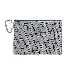 Metal Background With Round Holes Canvas Cosmetic Bag (M)