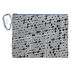 Metal Background With Round Holes Canvas Cosmetic Bag (XXL)