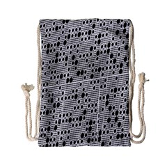 Metal Background With Round Holes Drawstring Bag (small)