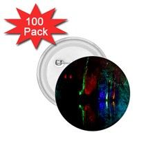 Illuminated Trees At Night Near Lake 1 75  Buttons (100 Pack)