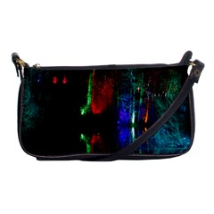 Illuminated Trees At Night Near Lake Shoulder Clutch Bags