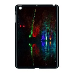 Illuminated Trees At Night Near Lake Apple Ipad Mini Case (black)