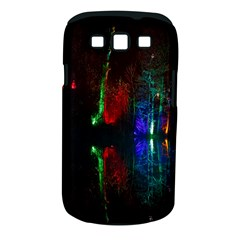 Illuminated Trees At Night Near Lake Samsung Galaxy S III Classic Hardshell Case (PC+Silicone)