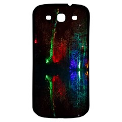 Illuminated Trees At Night Near Lake Samsung Galaxy S3 S III Classic Hardshell Back Case