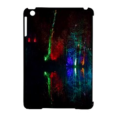 Illuminated Trees At Night Near Lake Apple iPad Mini Hardshell Case (Compatible with Smart Cover)