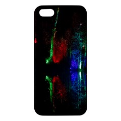 Illuminated Trees At Night Near Lake Apple Iphone 5 Premium Hardshell Case