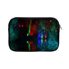 Illuminated Trees At Night Near Lake Apple Ipad Mini Zipper Cases