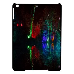 Illuminated Trees At Night Near Lake iPad Air Hardshell Cases