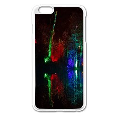 Illuminated Trees At Night Near Lake Apple Iphone 6 Plus/6s Plus Enamel White Case