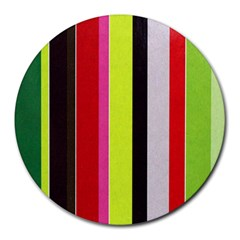 Stripe Background Round Mousepads