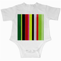 Stripe Background Infant Creepers
