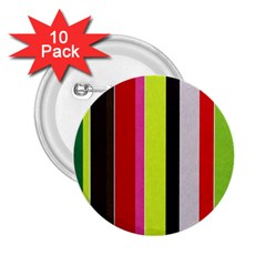 Stripe Background 2.25  Buttons (10 pack)