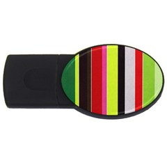 Stripe Background USB Flash Drive Oval (2 GB)