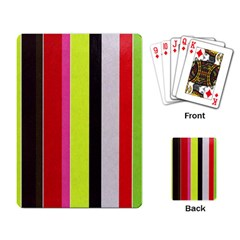 Stripe Background Playing Card