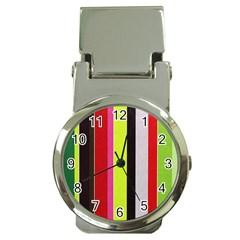 Stripe Background Money Clip Watches