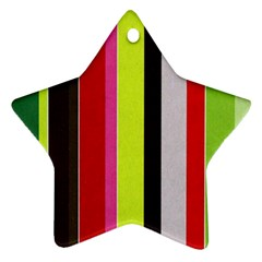 Stripe Background Star Ornament (Two Sides)