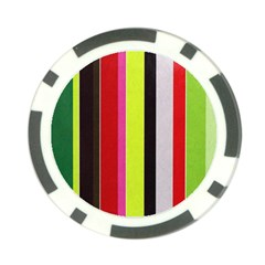 Stripe Background Poker Chip Card Guard