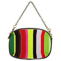 Stripe Background Chain Purses (One Side)