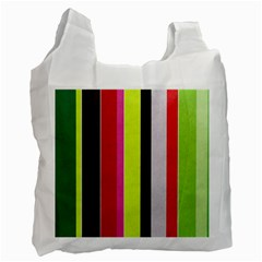Stripe Background Recycle Bag (One Side)