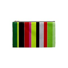 Stripe Background Cosmetic Bag (small)