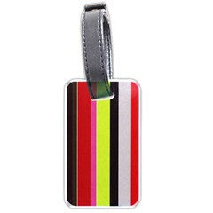 Stripe Background Luggage Tags (One Side)