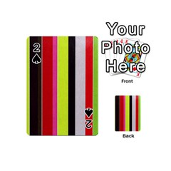 Stripe Background Playing Cards 54 (mini)