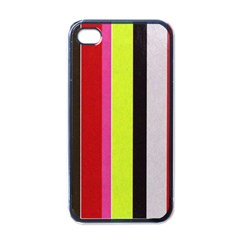 Stripe Background Apple iPhone 4 Case (Black)