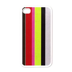Stripe Background Apple Iphone 4 Case (white)