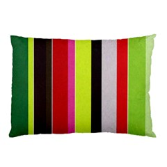 Stripe Background Pillow Case (Two Sides)