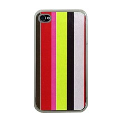 Stripe Background Apple Iphone 4 Case (clear)