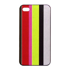 Stripe Background Apple iPhone 4/4s Seamless Case (Black)