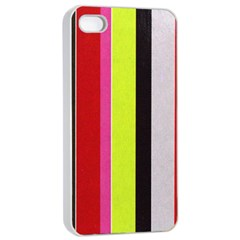 Stripe Background Apple iPhone 4/4s Seamless Case (White)