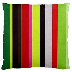 Stripe Background Large Cushion Case (Two Sides)