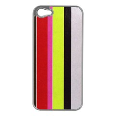 Stripe Background Apple iPhone 5 Case (Silver)