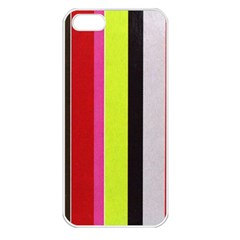 Stripe Background Apple iPhone 5 Seamless Case (White)