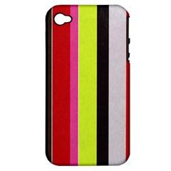 Stripe Background Apple Iphone 4/4s Hardshell Case (pc+silicone)