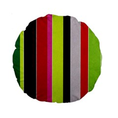 Stripe Background Standard 15  Premium Round Cushions