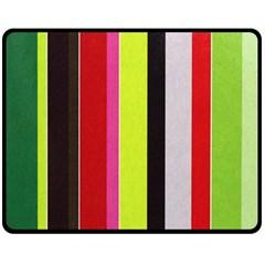 Stripe Background Double Sided Fleece Blanket (medium)