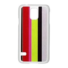 Stripe Background Samsung Galaxy S5 Case (white)